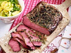 Weihnachtsessen mit Fleisch - feine Braten, Filet & Co. - roastbeef-pfefferkruste Rezept