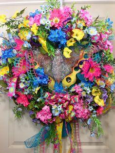 Spring / Summer Mesh Wreath on Etsy, $145.00
