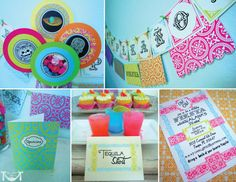 Vintage Fiesta Party Mexican Party  PRINTABLE PARTY by CutiePutti, $50.00