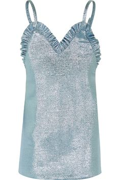Jacquemus | Ruffled knitted lamé mini dress | NET-A-PORTER.COM