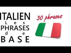 Apprendre l'italien - Les phrases de base - YouTube