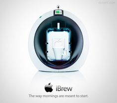 IBrew Concept Design, Exciting - Now THAT'S the way to start the morning! Clever Gadgets, Geek Gadgets, Gadgets And Gizmos, Technology Gadgets, Amazing Gadgets, Rage Against The Machine, Nyc, Gadget Gifts, Future Tech