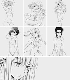 (Darling in the Franxx) Swimsuit😍💙❤️ Anime Girl Neko, Anime Chibi, Manga Anime, Anime Art, Fanarts Anime, Anime Characters, Anime Sisters, To Love Ru Darkness, Funny Comic Strips