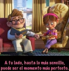 Hasta lo mas sencillo ... Love You Hubby, My Only Love, Love Images, Love Pictures, Funny Pictures, Up Carl Y Ellie, Up Pixar, Cute Love Stories, Growing Old Together