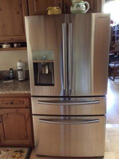 New Fridge: Samsung SRF639GDLS 639L Capacity French Door Refrigerator With Counter  Depth | New Home | Pinterest | Samsung, French And Refrigerators