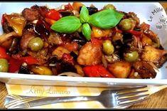 Eggplant Caponata, Tasty, Yummy Food, Kung Pao Chicken, Favorite Recipes, Estate, Ethnic Recipes, Kitchen, Italian Recipes