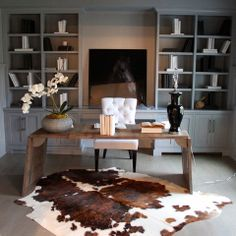 Cowhide Rug Bedroom Design Ideas, Pictures, Remodel and Decor