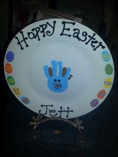 Easter handprint plate