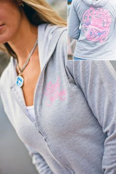 REEL SASSY RAW EDGE FLEECE HOODIE       Wear anywhere full-zip, raw edge, fleece hoodie. Everyone needs a wear anywhere hoodie. Full zip, front pocket, and hood, make this the cutest addition to your Sassy collection. Sassy sweats to live, lounge, and fish in.     New colorful Sassy sailfish design on the back and Reel Sassy graphic on the front.     $42.00    www.reelsassy.com