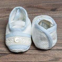 Boys Booties - Harrison Christening Booties (Ivory)
