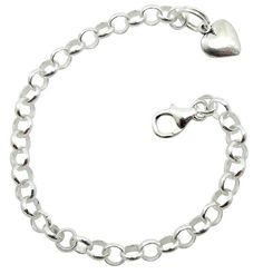 Sterling silver baby starter charm bracelets.  Give her a bracelet for her first birthday, and a charm that relates to her life, every birthday thereafter - create her life story. Beautiful quality.  $37.55