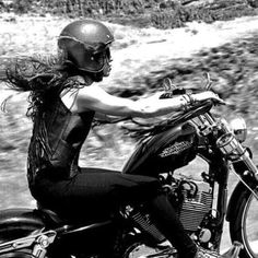 """motorcycles-and-more: """" Biker girl  """""""
