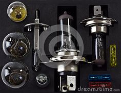 Photo about a closeup of a replacement car light and bulb set. Image of bulbs, halogen, bulb - 27225931 Car Lights, Espresso Machine, Bulbs, Close Up, Light Bulb, Coffee Maker, Car Set, Image, Things To Sell