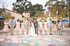 Tanner & Kylie's Wedding   San Diego Temple & Balboa Park » Davello Photography   www.davello.com   cream pink and grey wedding   San Diego Wedding   Southern California Wedding