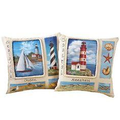 Collections Etc Nautical Lighthouse Decorative Throw Pillows. http://www.amazon.com/gp/product/B01BZQ7SEI/ref=as_li_tl?ie=UTF8&camp=1789&creative=9325&creativeASIN=B01BZQ7SEI&linkCode=as2&tag=pinthrowpillow16-20&linkId=JALDOGOC72SPH4RO