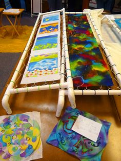 Could be great for painting pennons! Frame for long silk projects