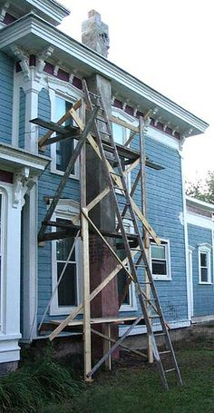 Simple Homemade Scaffolding Safe To Use And Inexpensive To Build A Frames And A Couple Of
