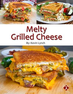 Melty Grilled Cheese eCookbook - Get your copy now! : Melty Grilled Cheese eCookbook - Get your copy now! Buffalo Chicken Grilled Cheese, Best Grilled Cheese, Grilled Cheese Recipes, Grilled Cheeses, Grill Cheese Sandwich Recipes, Grilled Sandwich, Soup And Sandwich, Panini Sandwiches, Wine Recipes