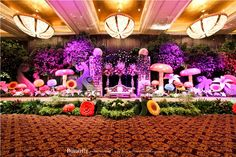 Easy Alice in Wonderland Backdrops | Alice and Samson's Engagement at Mulia Hotel Grand Ballroom Jakarta
