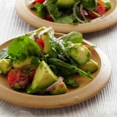 Avocado Salad with Tomatoes, Lime, and Toasted Cumin Vinaigrette.