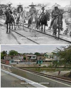 Antes y Después  Puente de Iturbide 1914 Por el Mercado Avila Camacho
