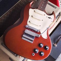 '67 Gibson Melody Maker SG triple pickup in Sparkling Burgundy | mmguitarbar