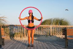 Weighted hula hoop exercises