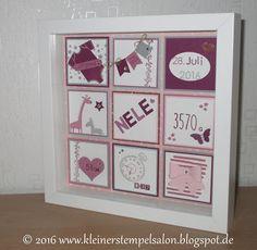 Papier stempel co bilderrahmen zur geburt baby pinterest babies and craft frames - Ribba rahmen gestalten ...