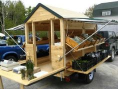 Awesome mobile shop  Great fold-down ideas...could be adapted for construction trailer