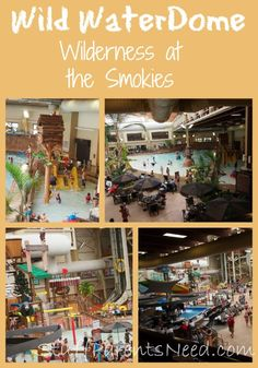 One of the best values for family vacations: an indoor, year-round water park! Wilderness at the Smokies near Gatlinburg, TN. Admission to the water park included with the hotel room!