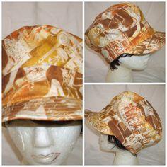 Newsboy Cap -  Newsboy Hat Egyptian Motif by MarieHolmanDesigns, $25.00 USD