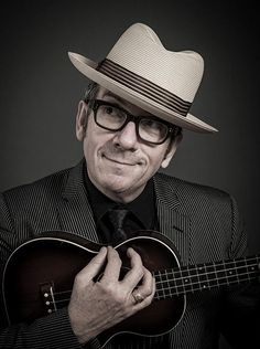 """Elvis Costello by Andy Gotts - """"Oh hey. It's me. Just bein' cute."""""""