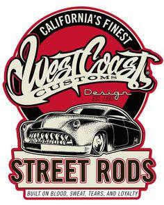 Street Rods, Rat Rods, Carros Retro, Vw Beach, West Coast Customs, Rat Rod Pickup, Garage Art, Garage Logo, Garage Signs