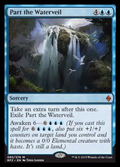 Part the Waterveil mtg Magic the Gathering mythic rare blue sorcery awaken card Battle for Zendikar