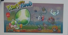 YOSHI'S NEW ISLAND 3DS Interactive Promo Display 3D Sample Game Inc BRAND NEW