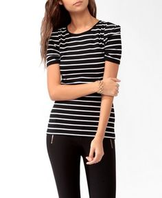 Short Sleeve Striped Top | FOREVER21 - 2027705965