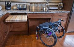Creating wheelchair accessible home will provide easy maneuvering living space… Home Renovation, Home Remodeling, Kitchen Remodeling, Handicap Accessible Home, Cuisines Design, Unique Home Decor, Home Improvement, New Homes, Construction