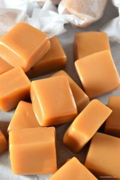 Learn how to make Easy Homemade Buttery Caramels. A simple recipe for soft and chewy caramel candies: butter/brown sugar/corn syrup/condensed milk/vanilla.