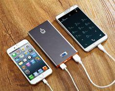 Power Castle, Intocircuit® Batería Externa 12000mAh 2 USB Puertos Banco de la Energía Cargador para iPad Air2, MINI3, 4, 3, 2, iPhone 6, Plus, 5S, 5C, 5, 4S, 4 (Cable de Iluminación no Incluido) Samsung Galaxy S6 Edge, S6, S5, S4, S3, Note4, Note 3, Note 2, Tab 4 3 2 Pro, HTC One, One2 (M8 M9), MotoX, Sony Xperia Z, Google Nexus, Tabletas y Android Más: Amazon.es: Electrónica