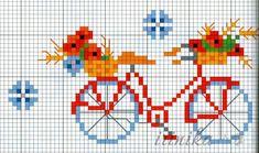 (1) Gallery.ru / Фото #1 - Велосипед. - irinika. Free pattern cross stitching