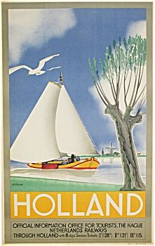 VINTAGE POSTER for NETHERLANDS RAILWAY 1935 M. Wilmink (Posters - Antique and Vintage) at Antique Finds