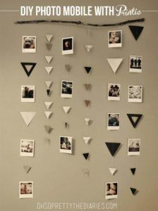 DIY Dorm Room Decor Ideas - Photo Mobile With Printic - Cheap DIY Dorm Decor Projects for College Rooms - Cool Crafts, Wall Art, Easy Organization for Girls - Fun DYI Tutorials for Teens and College Students http://diyprojectsforteens.com/diy-dorm-room-decor