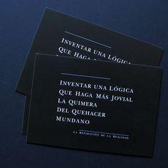 INVENTAR UNA LÓGICA QUE HAGA MÁS JOVIAL LA QUIMERA DEL QUEHACER MUNDANO via ALMACÉN DE ANÁLISIS. Click on the image to see more!
