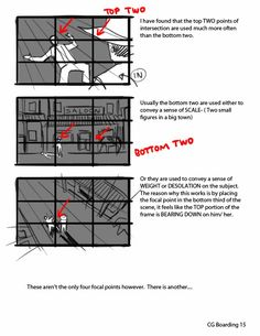Composition Tutorial - by Giancarlo Volpe Animation Storyboard, Animation Reference, Drawing Reference, Animation News, Storyboard Film, Storyboard Drawing, Illustrator Tutorials, Art Tutorials, Drawing Techniques
