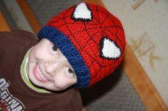 Häkelanleitung: Kindermütze Spiderman