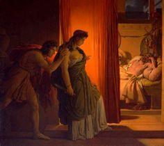 Guérin, Baron Pierre-Narcisse (b,1774)- Clytemnestra Kills Sleeping Agamemnon