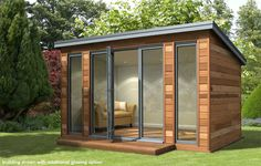 Decorated Shed is no longer building garden rooms which is a shame, but we can suggest similar garden room designs. Backyard Cabin, Garden Cabins, Backyard Office, Outdoor Office, Backyard Studio, Garden Studio, Garden Office, Outdoor Rooms, Bungalow