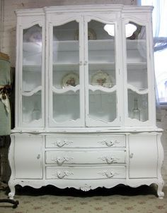 I Would Like To Find An Antique French Provincial China Cabinet This Repurpose