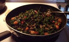 Cilantro-Lime Black beans with kale from Chic Vegan