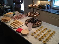 Some of the food at our housewarming party